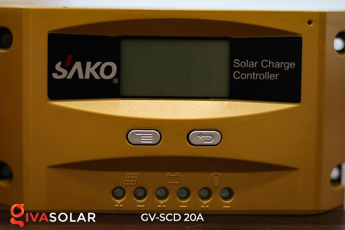 Điều khiển sạc điện mặt trời SC-D 12 24V 20A 4