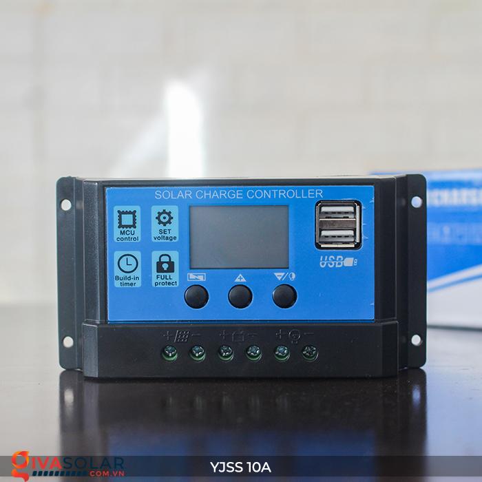 Bộ điều khiển sạc pin năng lượng mặt trời YJSS10 PWM-10A 3