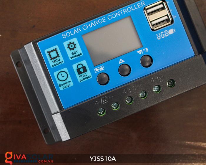 Bộ điều khiển sạc pin năng lượng mặt trời YJSS10 PWM-10A 7