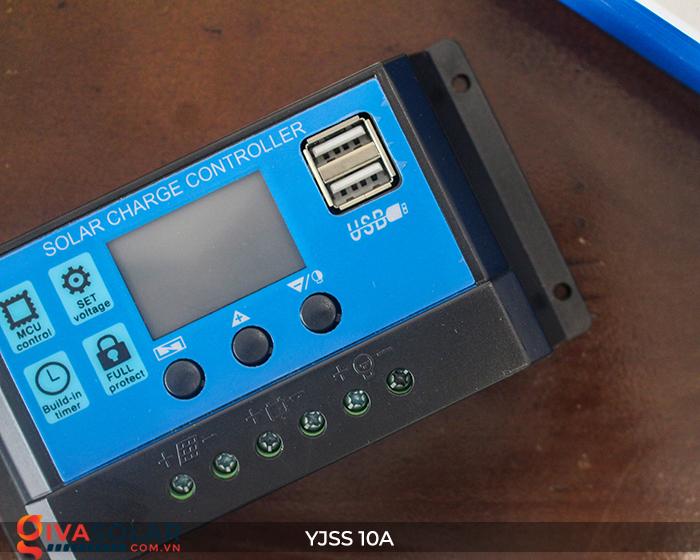 Bộ điều khiển sạc pin năng lượng mặt trời YJSS10 PWM-10A 8