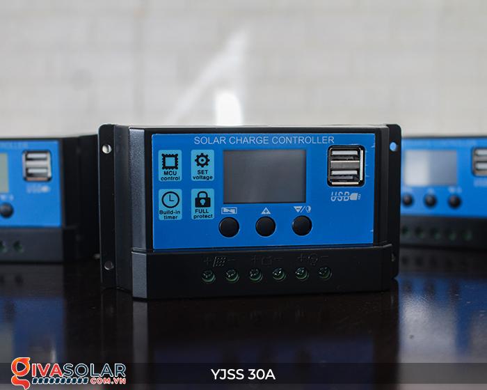 Bộ điều khiển sạc năng lượng mặt trời YJSS30 PWM-30A 4