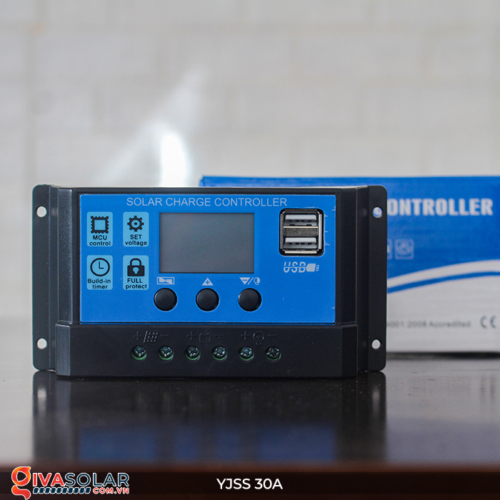 Bộ điều khiển sạc năng lượng mặt trời YJSS30 PWM-30A 5