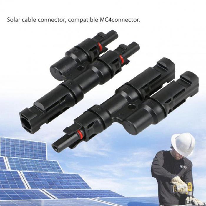 Cặp đầu nối MC4 chữ T cho tấm pin mặt trời 1