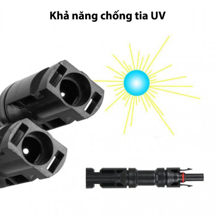 Cặp đầu nối MC4 chữ T cho tấm pin mặt trời 4