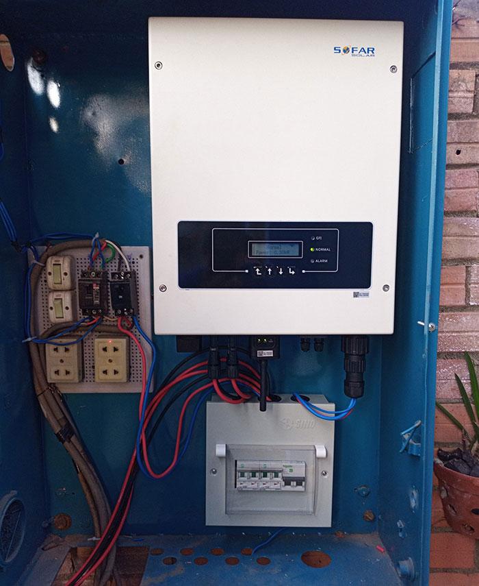 [Điện mặt trời Bình Dương] Hoàn thành lắp đặt hệ thống hòa lưới 5kW 6