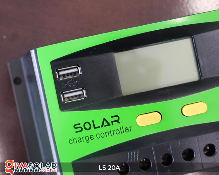 Điều khiển sạc pin năng lượng mặt trời LS20 PMW 20A 11