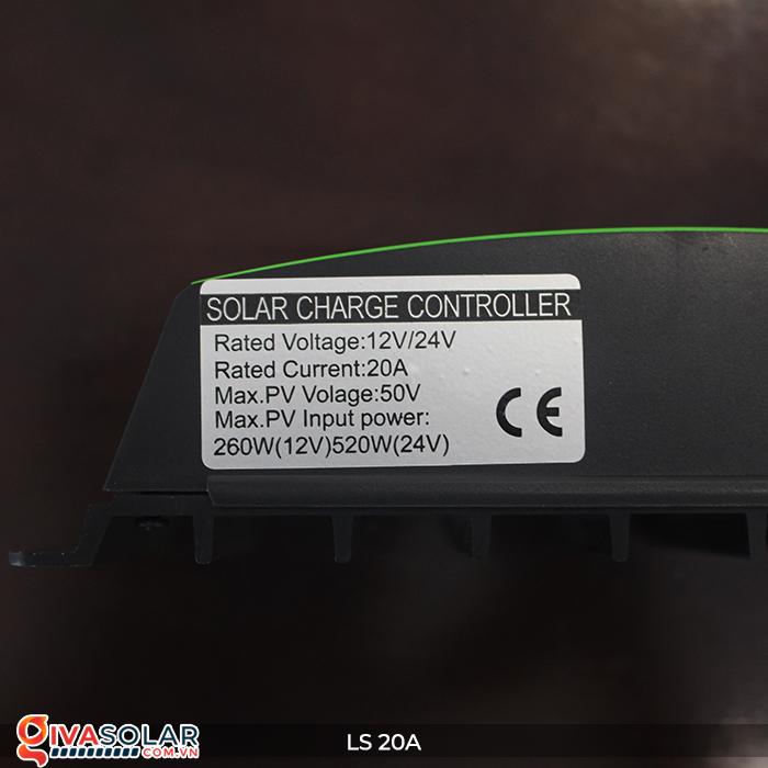 Điều khiển sạc pin năng lượng mặt trời LS20 PMW 20A 14