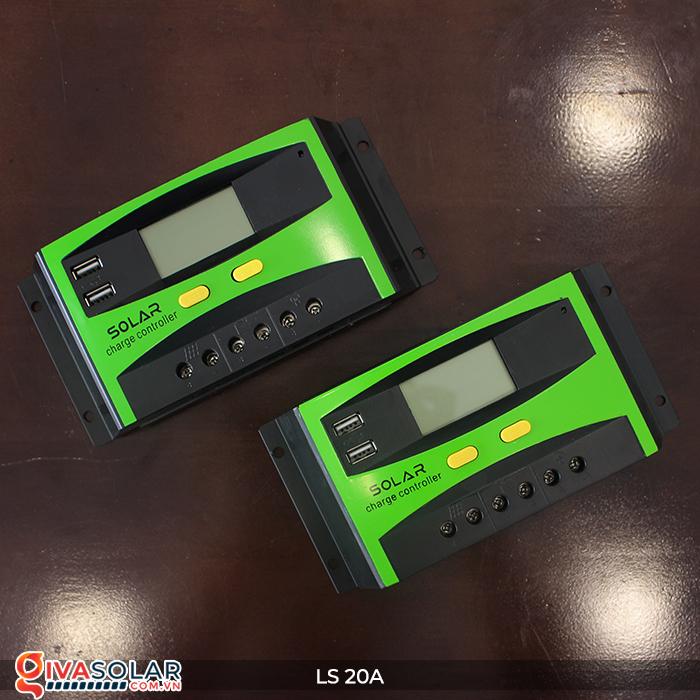 Điều khiển sạc pin năng lượng mặt trời LS20 PMW 20A 3