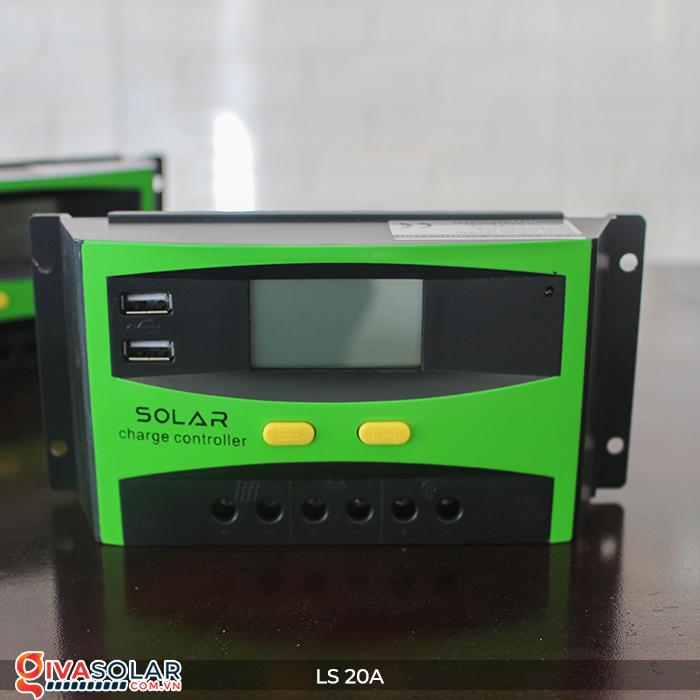 Điều khiển sạc pin năng lượng mặt trời LS20 PMW 20A 5