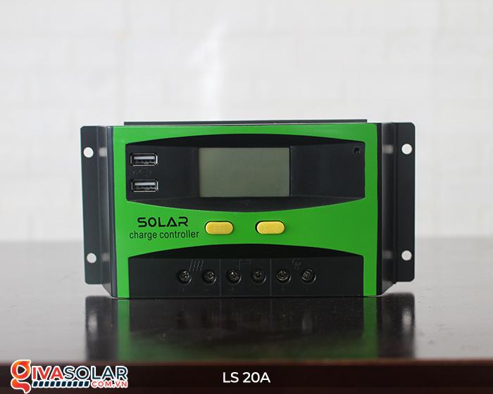 Điều khiển sạc pin năng lượng mặt trời LS20 PMW 20A 6