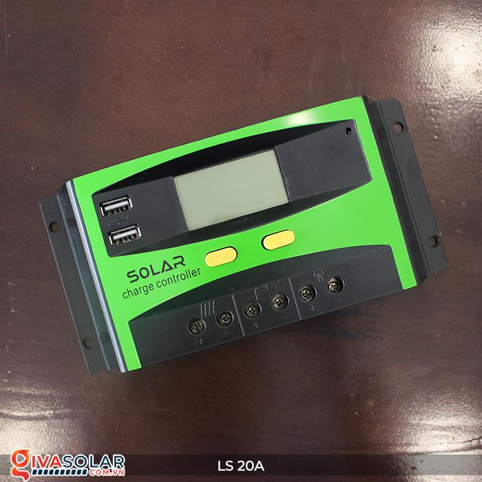 Điều khiển sạc pin năng lượng mặt trời LS20 PMW 20A 7