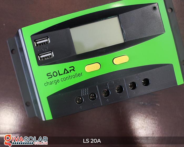 Điều khiển sạc pin năng lượng mặt trời LS20 PMW 20A 8