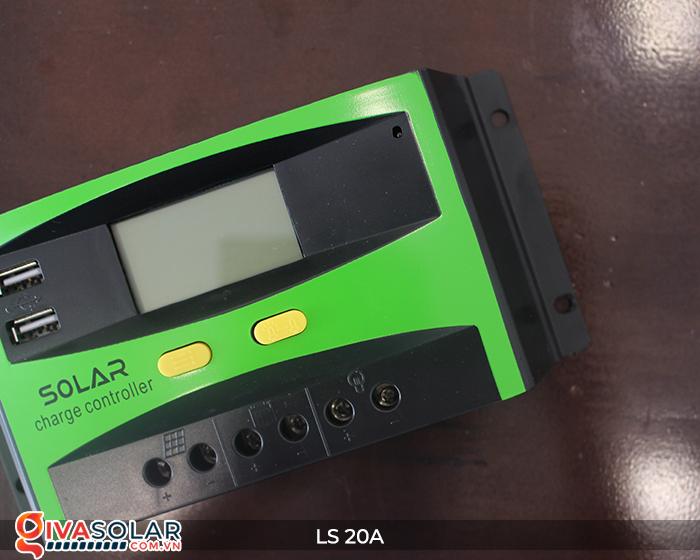 Điều khiển sạc pin năng lượng mặt trời LS20 PMW 20A 9