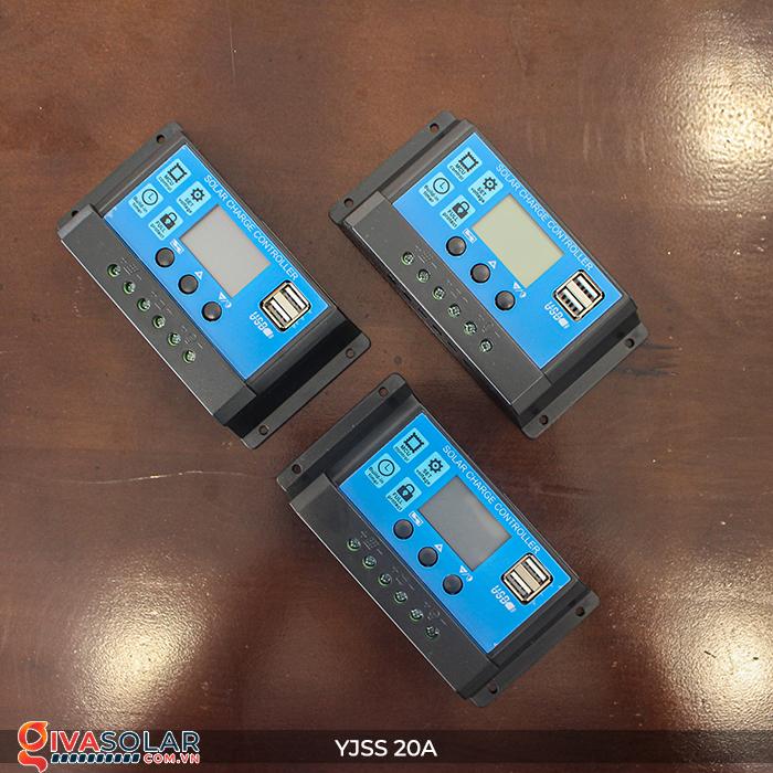 Điều khiển sạc năng lượng mặt trời YJSS20 PWM-20A 1