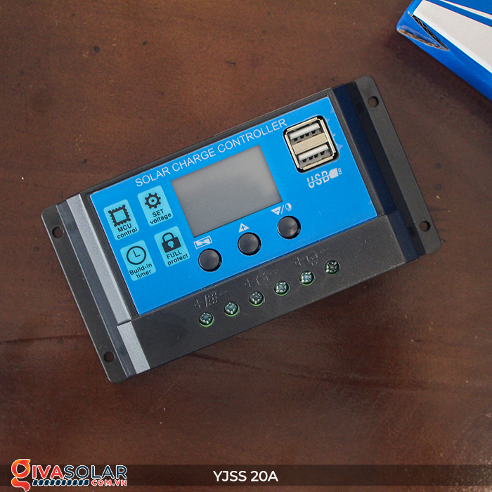 Điều khiển sạc năng lượng mặt trời YJSS20 PWM-20A 5