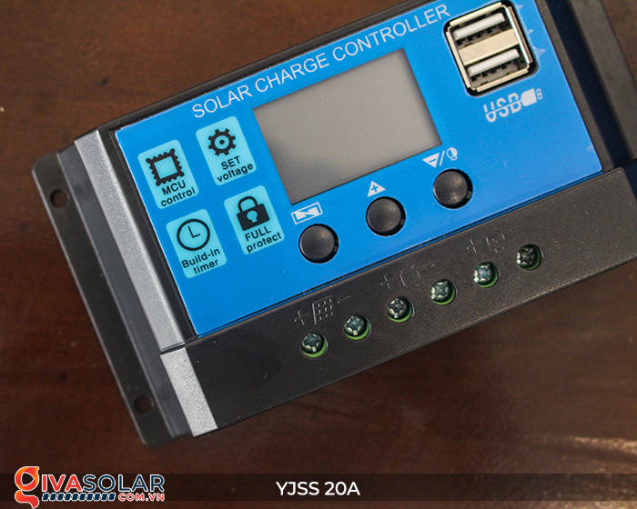 Điều khiển sạc năng lượng mặt trời YJSS20 PWM-20A 6