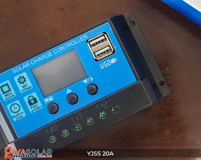 Điều khiển sạc năng lượng mặt trời YJSS20 PWM-20A 7