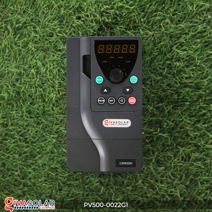 Inverter 2.2kW dùng cho bơm nước năng lượng mặt trời PV500-0022G1 1