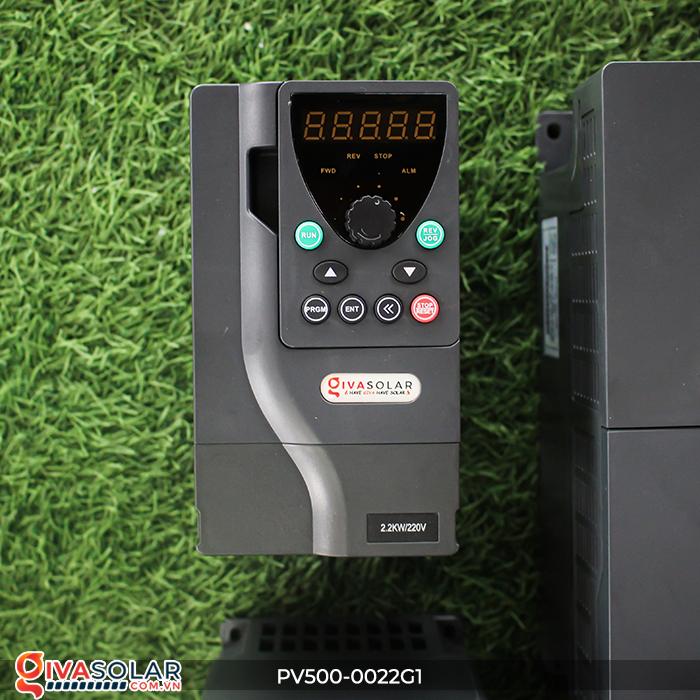 Inverter 2.2kW dùng cho bơm nước năng lượng mặt trời PV500-0022G1 2