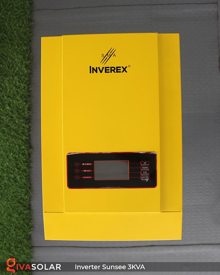 Biến tần năng lượng mặt trời độc lập phụ tải điện lưới SUNSEE 3KVA 7