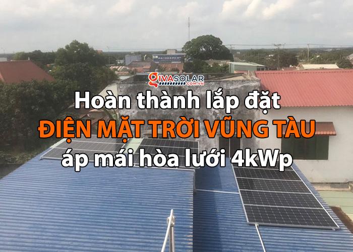 [Năng lượng mặt trời Vũng Tàu] Hoàn thành lắp đặt dự án 4kWp 0