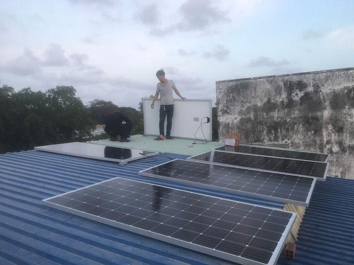 [Năng lượng mặt trời Vũng Tàu] Hoàn thành lắp đặt dự án 4kWp 1