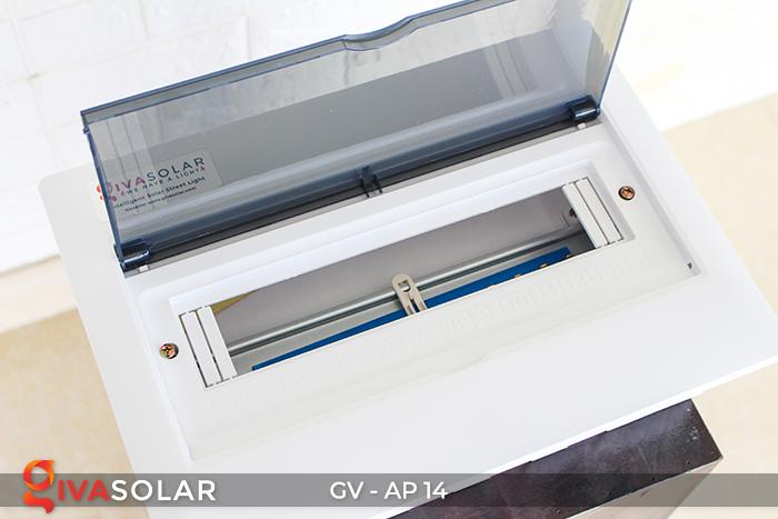 Tủ điện năng lượng mặt trời âm tường đáy nhựa 14 đường AP-14 3
