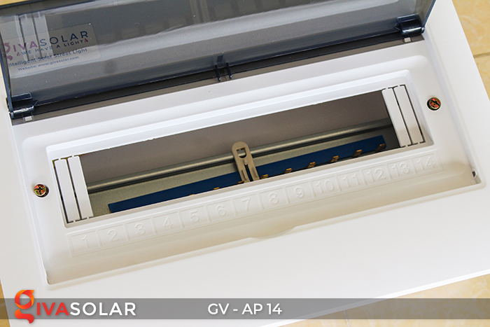 Tủ điện năng lượng mặt trời âm tường đáy nhựa 14 đường AP-14 5