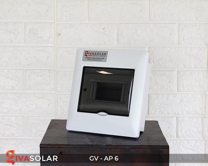 Tủ điện âm tường đáy nhựa 6 đường AP-6 4