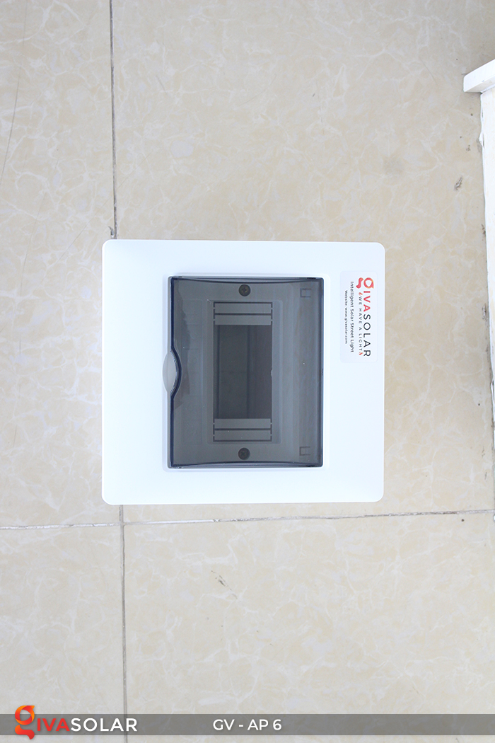 Tủ điện âm tường đáy nhựa 6 đường AP-6 9