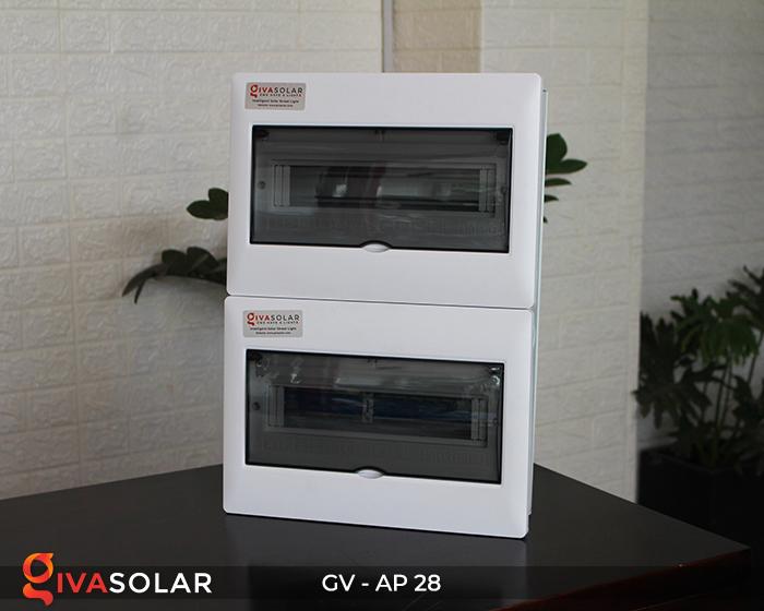 Tủ điện năng lượng mặt trời âm tường AP-28 way 7