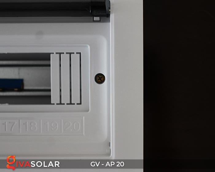 [Phụ kiện lắp đặt năng lượng mặt trời] Tủ điện âm tường 20 đường 11