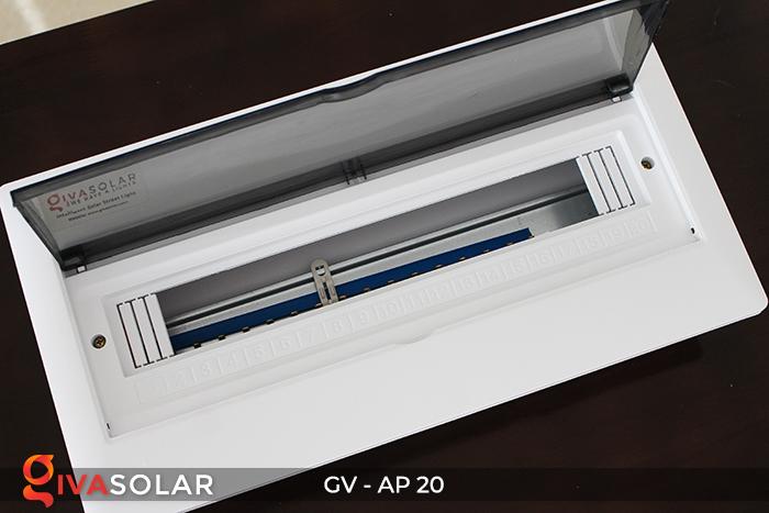 [Phụ kiện lắp đặt năng lượng mặt trời] Tủ điện âm tường 20 đường 8