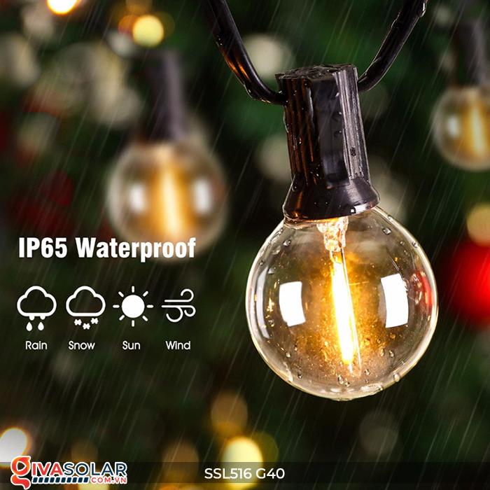 Dây đèn bóng led chạy bằng năng lượng mặt trời SSL516 13