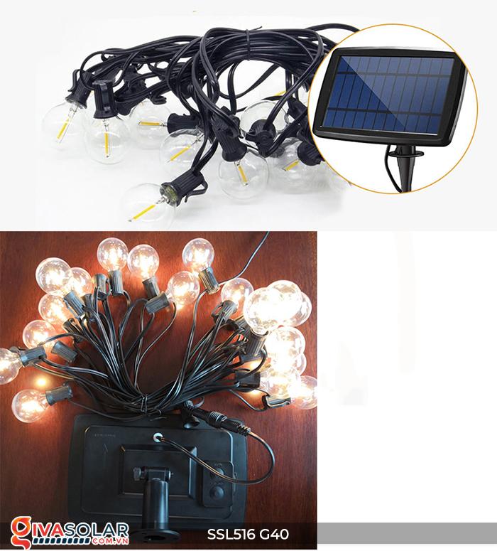 Dây đèn bóng led chạy bằng năng lượng mặt trời SSL516 15