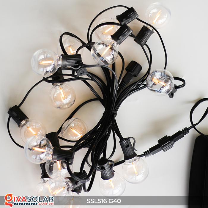 Dây đèn bóng led chạy bằng năng lượng mặt trời SSL516 22