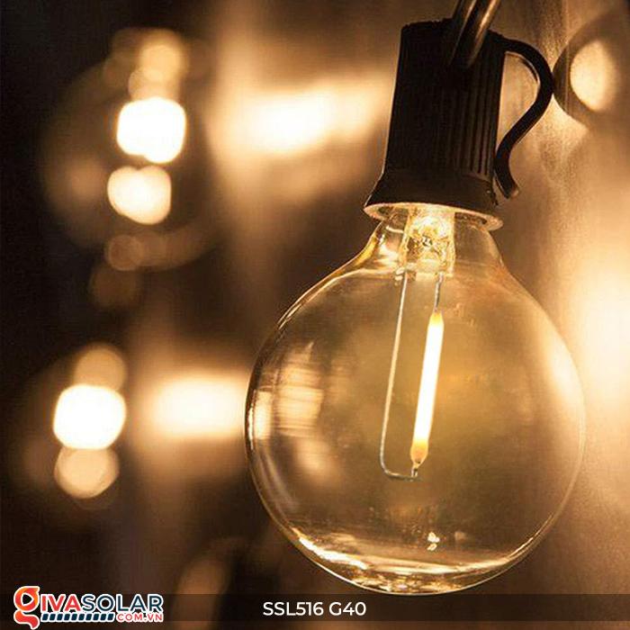 Dây đèn bóng led chạy bằng năng lượng mặt trời SSL516 28