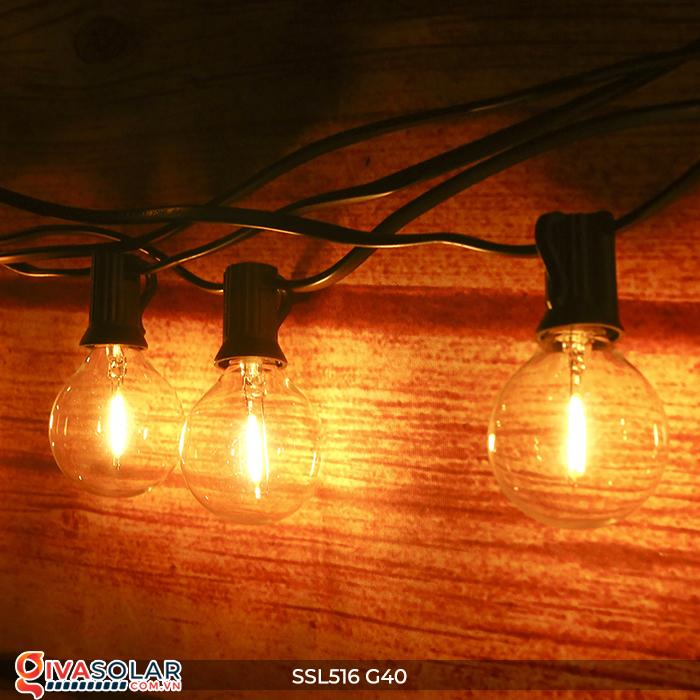 Dây đèn bóng led chạy bằng năng lượng mặt trời SSL516 3