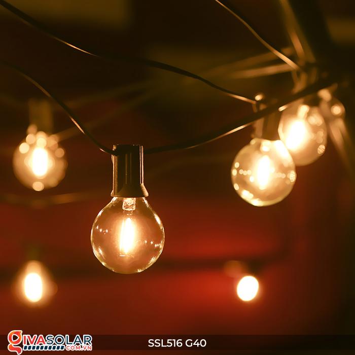 Dây đèn bóng led chạy bằng năng lượng mặt trời SSL516 6