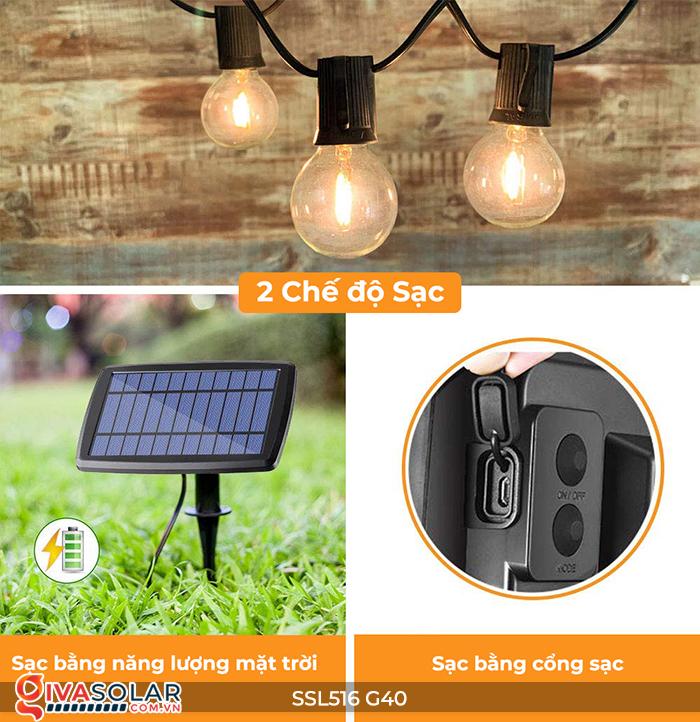 Dây đèn bóng led chạy bằng năng lượng mặt trời SSL516 7