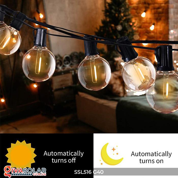 Dây đèn bóng led chạy bằng năng lượng mặt trời SSL516 8