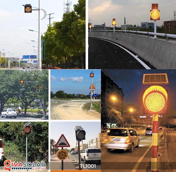 Đèn giao thông năng lượng mặt trời cảnh báo đi chậm TL1001 1