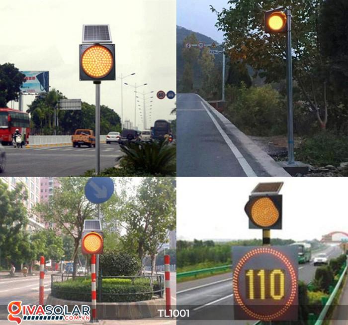 Đèn giao thông năng lượng mặt trời cảnh báo đi chậm TL1001 2