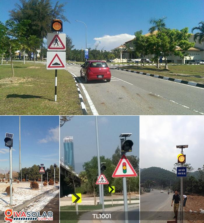 Đèn giao thông năng lượng mặt trời cảnh báo đi chậm TL1001 22