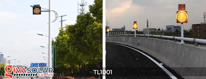 Đèn giao thông năng lượng mặt trời cảnh báo đi chậm TL1001 3
