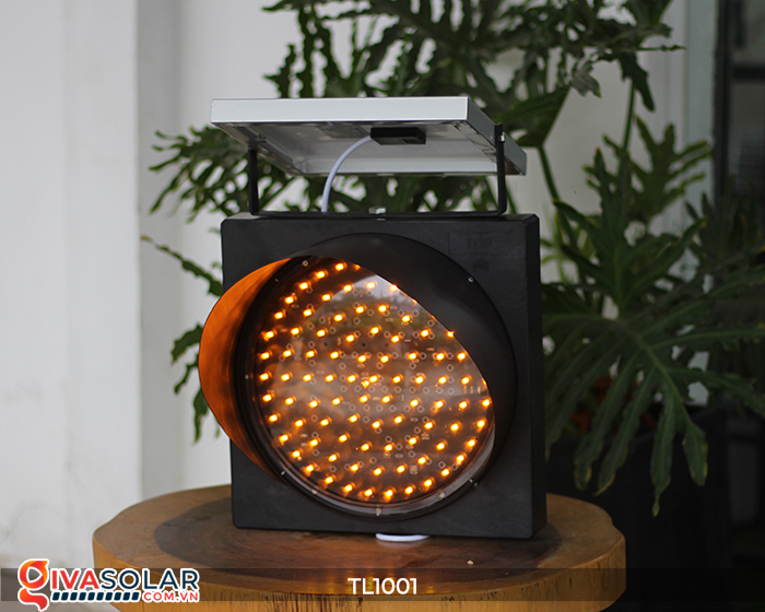 Đèn giao thông năng lượng mặt trời cảnh báo đi chậm TL1001 4