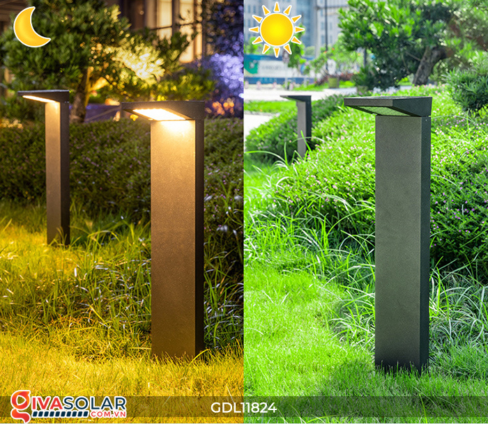 Đèn trụ sân vườn tích hợp pin năng lượng mặt trời GDL11824 1