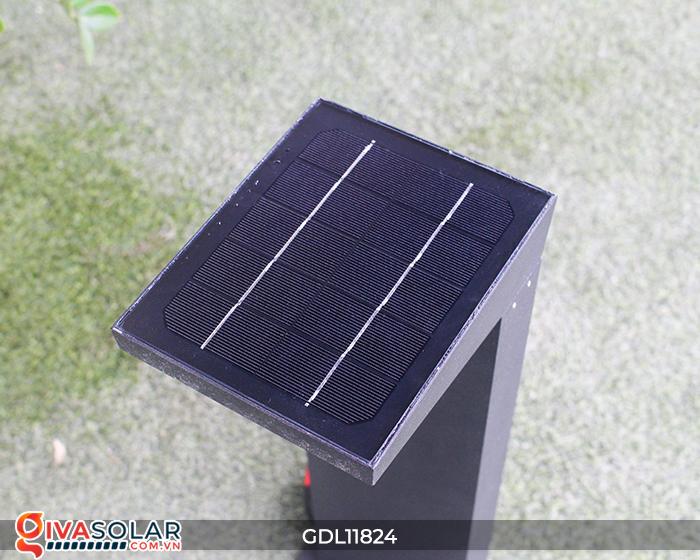 Đèn trụ sân vườn tích hợp pin năng lượng mặt trời GDL11824 12