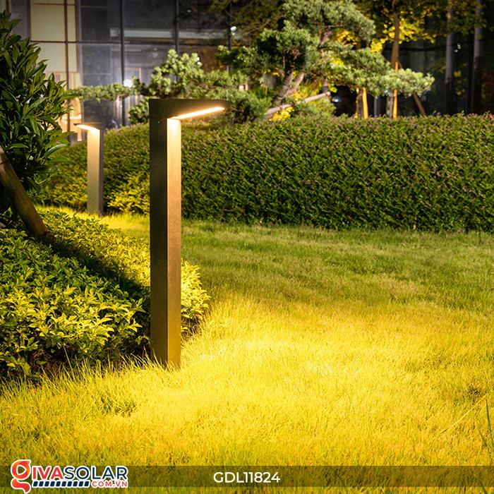 Đèn trụ sân vườn tích hợp pin năng lượng mặt trời GDL11824 4