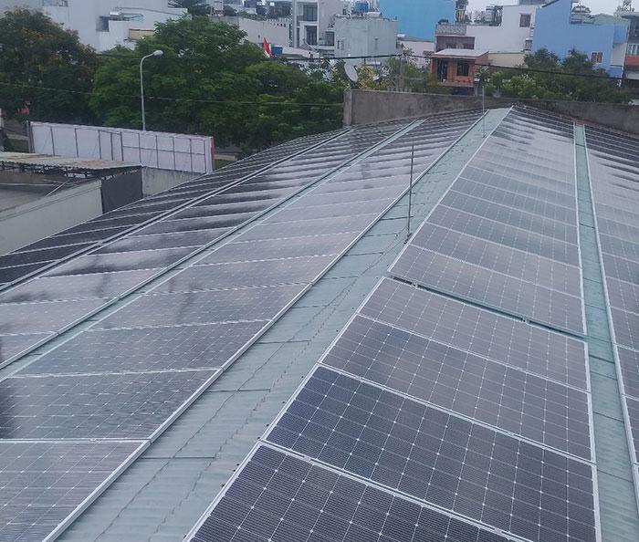 Dự án điện mặt trời áp mái nhà trọ tổng công suất 57 kWp tại Tân Phú HCM 1
